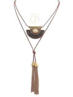 colar básico,colar verão 2015,colar boho,colar dourado franjas,colar com pedra bege,colar moda boho,acessórios de luxo, moda boho,Beth Souza Acessórios