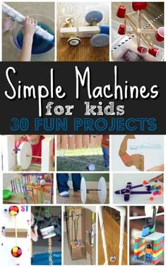 30 EPIC projects to explore simple machines for kids! These are such fun, hands on science projects for kids of all ages #simplemachines #scienceproject #scienceisfun Science Projects For Kids, Science For Kids, Projects For School, Kindergarten Science Projects, Science Penguin, Science Fun, Class Projects, Preschool Art, Science Classroom