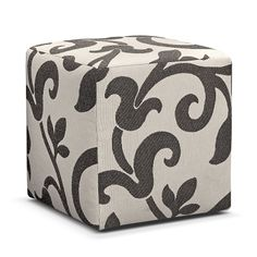 American Signature Furniture - Colette Upholstery Cube Ottoman $129.99 #ASFwishlist