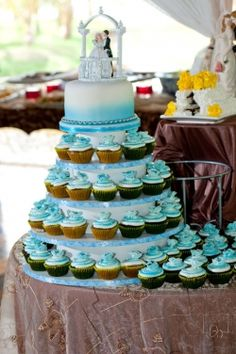Cup cake wedding cake..i really like this one