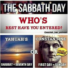 Saturday is the sabbath the Lord's day so who you praying to on Sunday