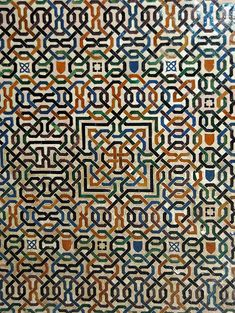 A tile mosaic at Alhambra From Granada