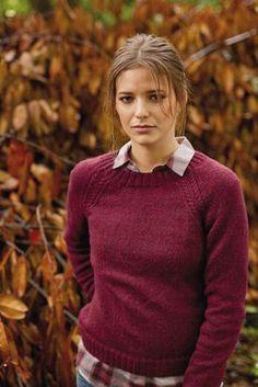 Arabian Raglan Sweater for Women Free Knitting Pattern
