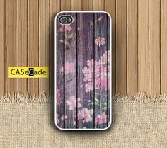 Flower Painted on Wood  Phone cases for iPhone 4/4s by CASeCade, $12.00