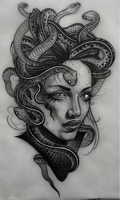 Тату, эскизы. Нижний Новгород Side Tattoos, Body Art Tattoos, Sleeve Tattoos, Cool Tattoos, Portrait Tattoos, Tatoo Designs, Tattoo Design Drawings, Tattoo Sketches, Medusa Tattoo Design