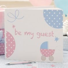 A guest book is the perfect momento for mums to be - filled with well wishes, baby weight guesses and important tips!