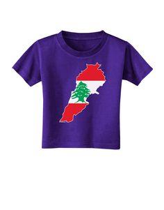 TooLoud Lebanon Flag Silhouette Toddler T-Shirt Dark