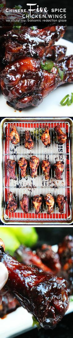 Perfect appetizer for New Years and One of the TASTIEST and EASIEST ways to prepare chicken! Crazy flavorful marinade and a balsamic vinegar reduction glaze - INCREDIBLE!!. | Carlsbad Cravings