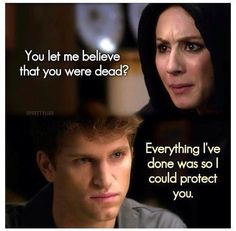 """- """"¿Por qué me hiciste creer que estabas muerto?"""" - """"Todo lo que he hecho ha sido para protegerte."""""""