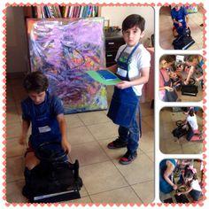 #kids#arts, grabado en unisel