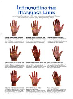 Interpreting the Marriage Lines Palm Of Your Hand, Wiccan, Witchcraft, Tarot Reading, Numerology, Tarot Cards, Occult, Pies, Mystic