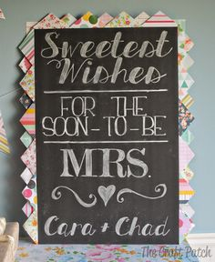 """The Craft Patch: """"Love is Sweet"""" Bridal Shower"""