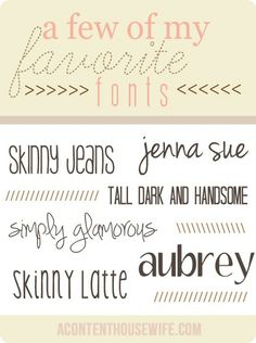 Cute fonts and the links to free downloads