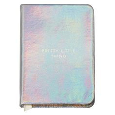 Mini Silver Notebook ($14) ❤ liked on Polyvore featuring home, home decor, stationery, accessories, books, school supplies, bags, notebook and filler