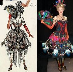 "Phantom of the Opera, the ""Fan Lady"" Masquerade costume, (Maria Bjornson)"