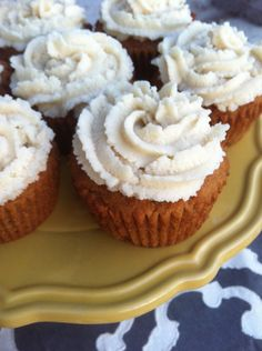 Vanilla chai cupcakes with coconut whipped cream frosting