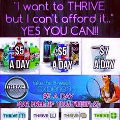 Yes you can! And I can show you how to Thrive for FREE!! BradshawAZ.le-Vel.com Come Thrive with me! 3 day experience packs available! Always free to set up an account!
