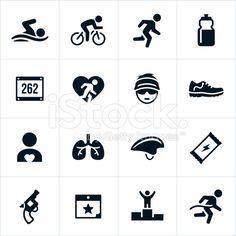 Icone di Triathlon arte vettoriale stock royalty-free