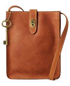 Fossil Handbag, Austin Slim Leather Portfolio Bag | Macy's, $128