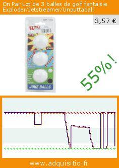 On Par Lot de 3 balles de golf fantaisie Exploder/Jetstreamer/Unputtaball (Sport). Réduction de 55%! Prix actuel 3,57 €, l'ancien prix était de 7,99 €. http://www.adquisitio.fr/on/lot-3-balles-golf