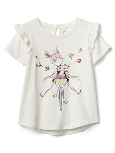 d5c2b10b2e13 Akshin JainKids wear · Gap Baby Ruffle Graphic T-Shirt Multi Girl Girls 4