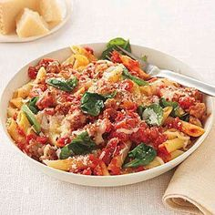 Ingredients  Salt and pepper 1 pound penne 1 pound sweet or hot Italian sausage, casings removed 1 clove garlic, minced Read more ›