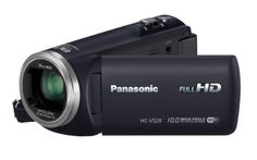 Panasonic HC-V520 HD Digital Camcorder with 80x Zoom and Wi-fi (Black) Intelligent zoom x80, optical zoom x50, 2D to 3D convertion. Wide angle lens 28mm, 5 axis hybrid OIS, NFC, balance shot. SD card, 3 LCD screen, built-in Wi-Fi, eye-fi compatible. Sensor Size: 1/5.8 Sensor Type: BSI MOS Sensor.  #Panasonic #Photography