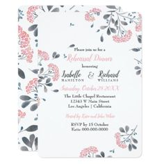 #Classy floral pink watercolor Rehearsal Dinner Card - #flower gifts floral flowers diy