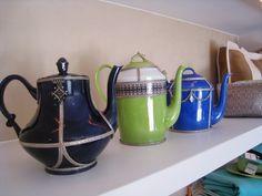 Original shaped ceramic tea pots