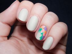 Floral Bouquet Accent Nail with OCC Cosplay Nail Lacquers