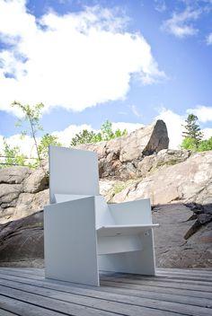 The Silo Patio Chair Designed by David Salmela for Loll Designs.