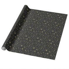 gold snow star wrapping paper