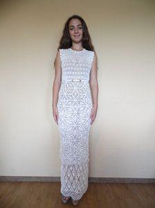9 Fantastiche Immagini Su Abiti Da Sposa Uncinetto Crochet Clothes