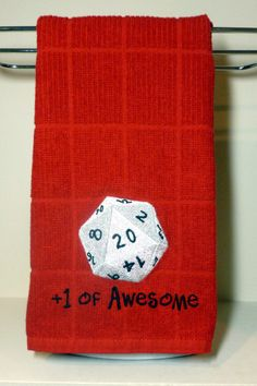 Dungeons and Dragons towel kitchen bathroom by OffTheHookbyLora, $12.00