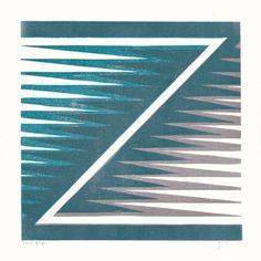 Z by James Brown (Alphabet Lino Print)