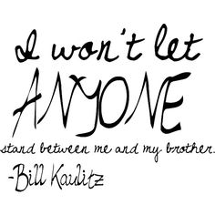 Cute Bill and Tom Kaulitz quote clipped by me! Use, please! found on Polyvore