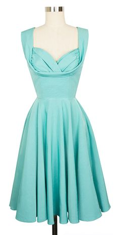 The limited edition Candice Gwinn Honey Dress in Pastel Turquoise Ribbed Rayon is a dress you'll have forever!