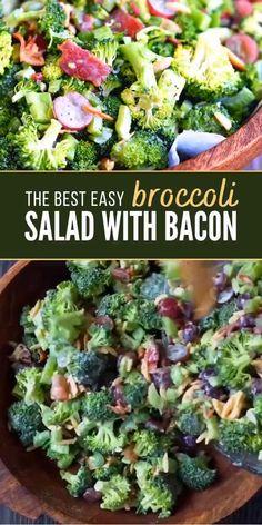 Broccoli Grape Salad, Best Broccoli Salad Recipe, Broccoli Salad With Cranberries, Healthy Broccoli Salad, Broccoli Cauliflower Salad, Brocolli Salad With Bacon, Brocolli Cranberry Salad, Broccoli Dishes, Cooking Broccoli