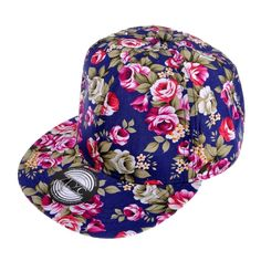 d1eb03f630f ZLYC Women Fashion Floral Print Adjustable Casual Snapback Baseball Cap Hat  (Navy)