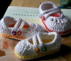 baby 2 Strap Mary Janes (crochet pattern)