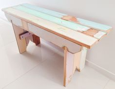 Bench seat constructed with 100yr old vj boards. Made by RAW Sunshine Coast