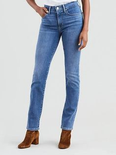 Levi's® women's jeans are a modern twist on classic styles that have defined generations. Shop high rise boyfriend jeans women's at Levi's® US for the best selection. Black Skinny Jeans Women, Best Jeans For Women, Ripped Skinny Jeans, Grunge Outfits, Jean Outfits, Casual Outfits, Casual Wear, Levis, Plus Size Leather Pants
