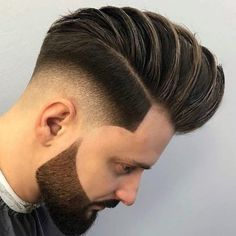 Mid Fade With Big Pompadour Style - - Low Skin Fade Haircut, Skin Fade With Beard, Medium Fade Haircut, Drop Fade Haircut, Textured Haircut, Pompadour Style, Pompadour Hairstyle, Cool Haircuts, Haircuts For Men