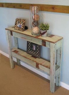 Superb Diy Projects Furniture Tables Ideas For Dining Rooms Once you have located the right DIY coffee table plans, completion of your project will take just a few hours. Farmhouse Sofa Table, Rustic Sofa Tables, Sofa Table Decor, Pallet Sofa Tables, Rustic Accent Table, Diy Entryway Table, Diy Table, Narrow Entry Table, Narrow Entryway