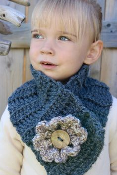 The GEORGIA FLOWER COWL scarf for toddler child girl by kikileighc
