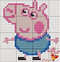 Disney Cross Stitch Patterns, Cross Stitch For Kids, Cross Stitch Baby, Cross Stitch Designs, Jumper Knitting Pattern, Knitting Charts, Knitting Patterns, Hama Beads Patterns, Beading Patterns