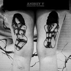 Andrey Y bondage tattoos