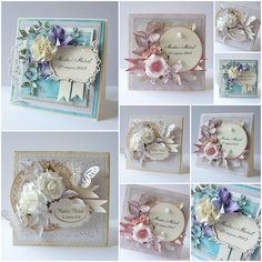 Anna Carolina Card Making Inspiration, Creative Inspiration, Arts And Crafts, Paper Crafts, Diy Crafts, Shabby Chic Cards, Anna Griffin Cards, Punch Art, Scrapbook Cards