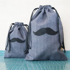 Groomsmen Gift Bag Small Mens Gift Bag Mustache Bag by KandyOh, $8.00 Groomsmen Gift Bags, Groomsman Gifts, Lolly Bags, Gift Wrapper, Small Bags, Mustache, Drawstring Backpack, Mens Fashion, Etsy