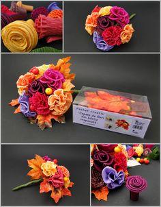 Pachet creativ cu accesorii pentru a realiza cu ușurintă flori sau buchete din hârtie creponată🍁💐 Hobbies, Kit, Creative